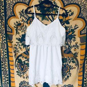 • Charming Charlie • lace cotton sleeveless dress